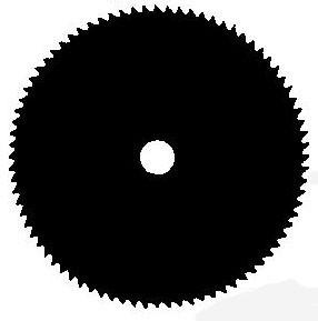VÁGÓTÁRCA UNIVERZÁLIS 80 FOG NYÍLÁS ÁTMÉRŐ 25,4mm SZÉLESSÉG 255mm VASTAGSÁSA 1,4mm